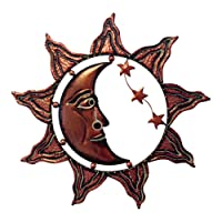 Frank Flechtwaren - Decorazione da parete, motivo: sole, luna e stelle