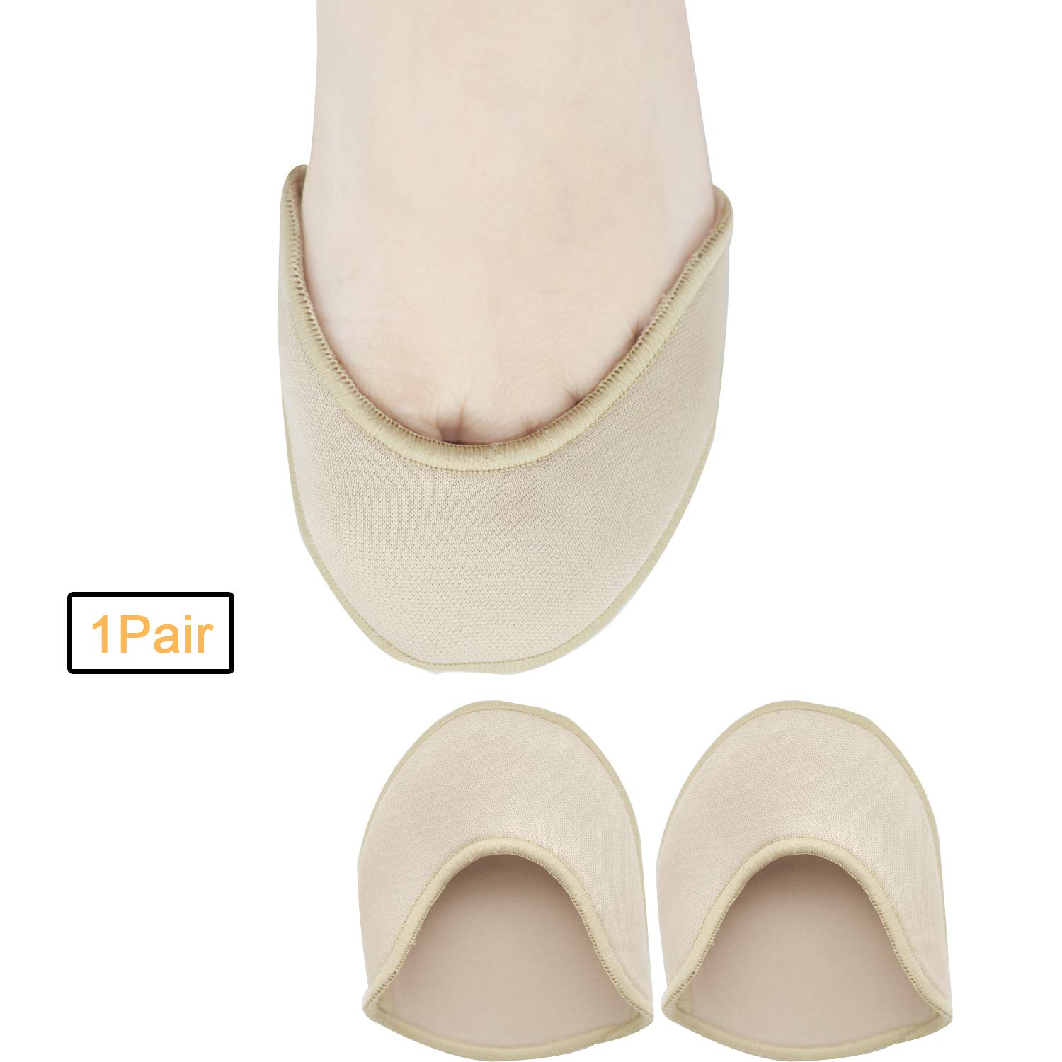 Toe Pouches Pads, Ouch Pouch to Protect Toe, Gel Toe Cover for Women's 6-10 for Heel, Ballet, Point Shoes - 1 Pairs