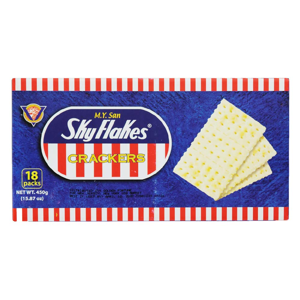 M.y San Skyflakes Saltine Crackers Pack of Two Boxes 15.87 Ox Per Box or 18 Packs Per Box by M.Y. San