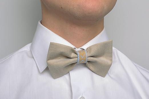 Madeheart Corbata de lazo color beige: Amazon.es: Hogar