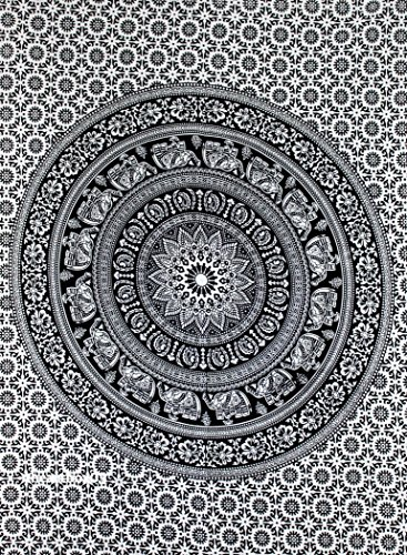 Art Box Store tapestry wall hangings Black and White Hippie Mandala Tapestry wall art Collage dorm Beach Throw Bohemian tapestry Wall decor Boho Bedspread 30