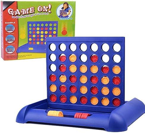 globalqi Connect 4 Board Game, Classic 4 in a Row Strategy Family Grid Juegos de Mesa Quarto Connect 4 Piezas Puzzle Educativo Juguete Interactivo para niños de 5 años en adelante: Amazon.es: Hogar