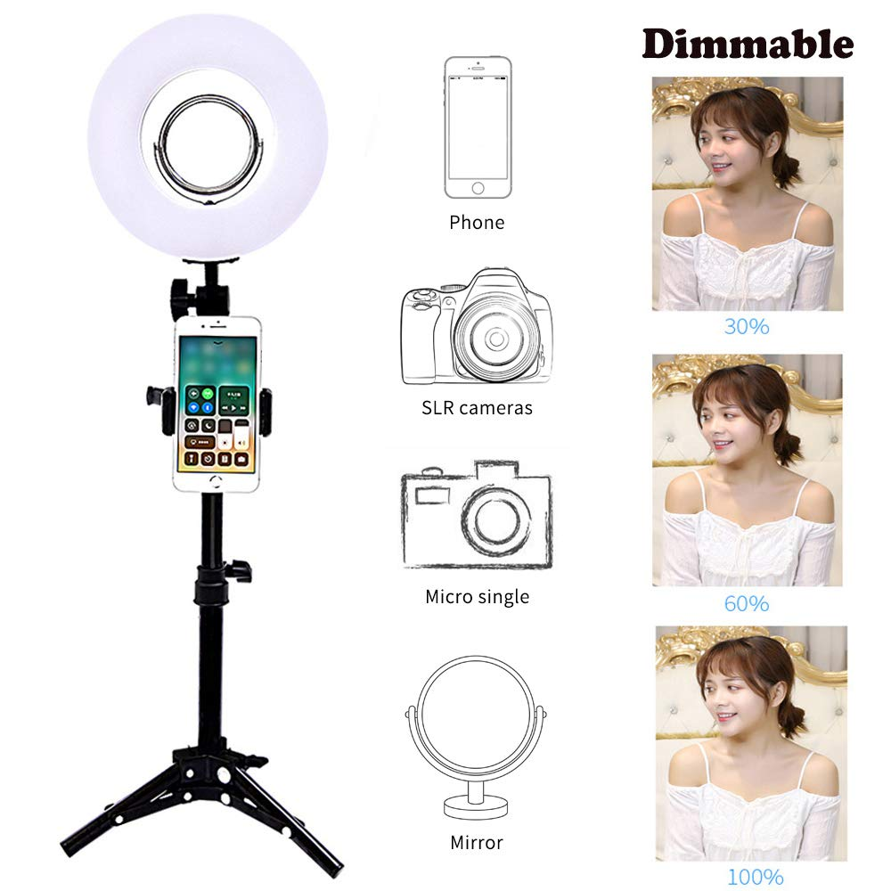 Amazoncom Trumagine Dimmable Led Ring Light With Light Stand