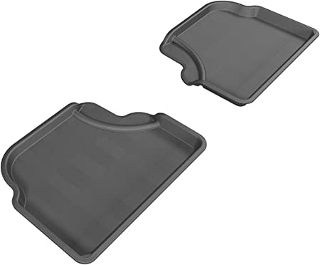 3D MAXpider L1BM09221501 Gray Second Row Custom Fit All-Weather Floor Mat for Select BMW X3 G01 Models-Kagu Rubber