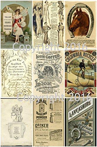 (Assorted Vintage Ephemera Vintage Label Images #4 on Collage Sheet for Photo Art, Scrapbooking, Collage, Decoupage)