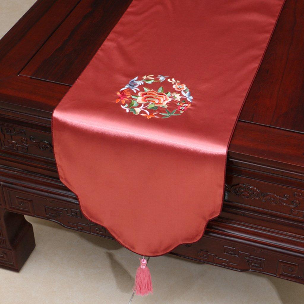 Unbekannt Tischläufer Retro Bestickt Bestickt Bestickt Tischläufer Luxus Stoff Damast & Mit Quasten Esstisch Läufer Tücher Teetisch Tischset(Farbe, Größe Optional) (Farbe    2, größe   33  300cm) 25a8d8