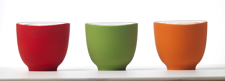 iSi Basics Flexible Silicone Prep Bowls, Set of 3, Red, Orange, Wasabi B25065