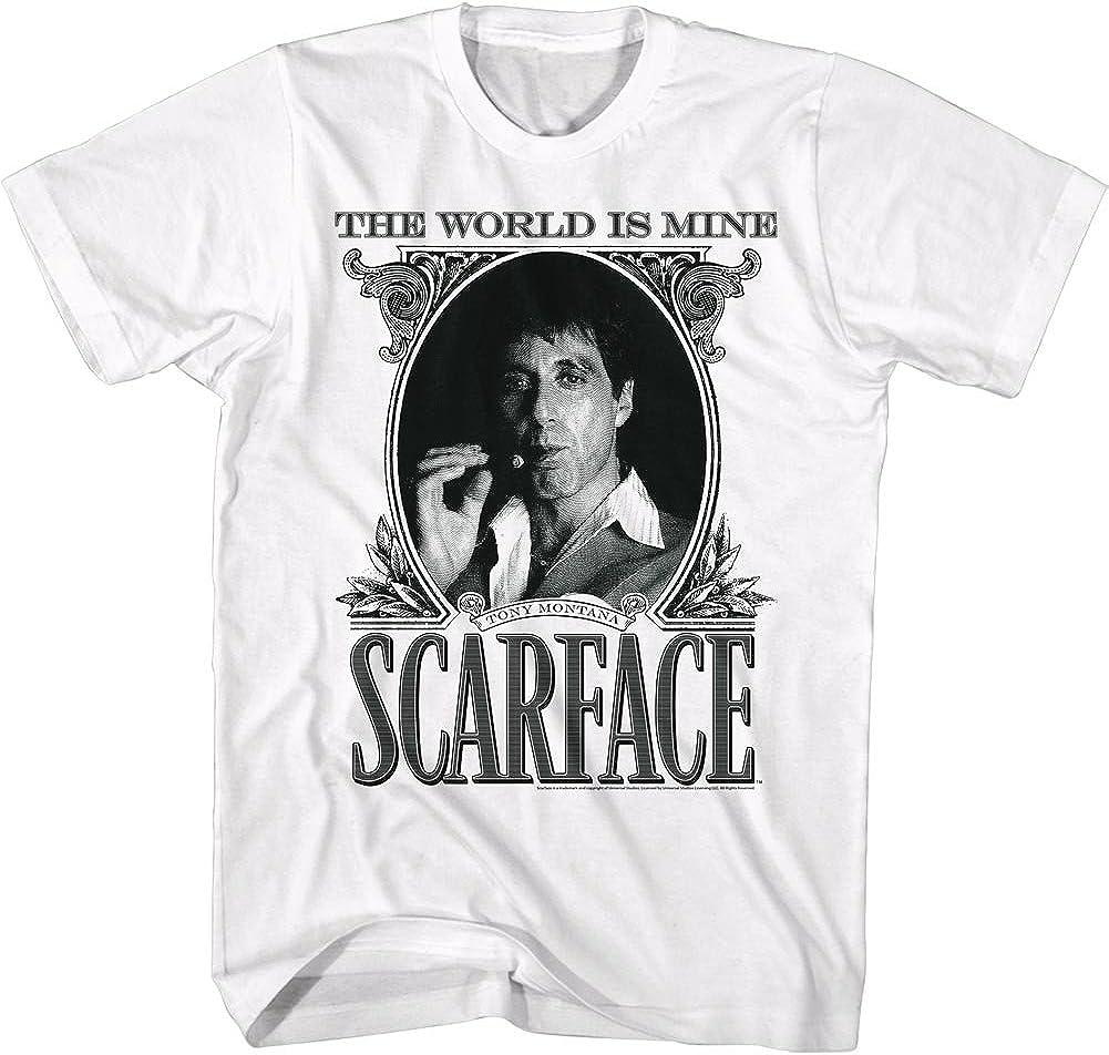 Scarface Tony Montana World is Yours Mens T Shirt White Black Pacino Mafia Movie