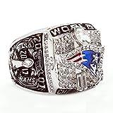 ZNKVJ Men's 2001 Year New England Patriots Championship Rings,Size 11