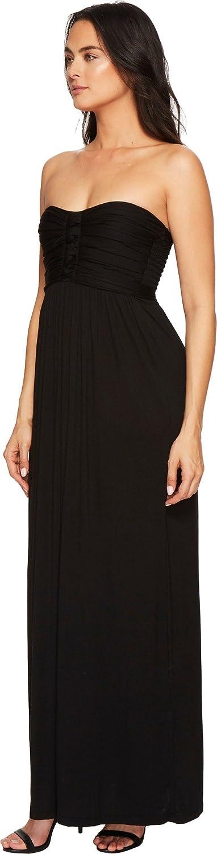 American Rose Liliana Maxi Dress Black XS