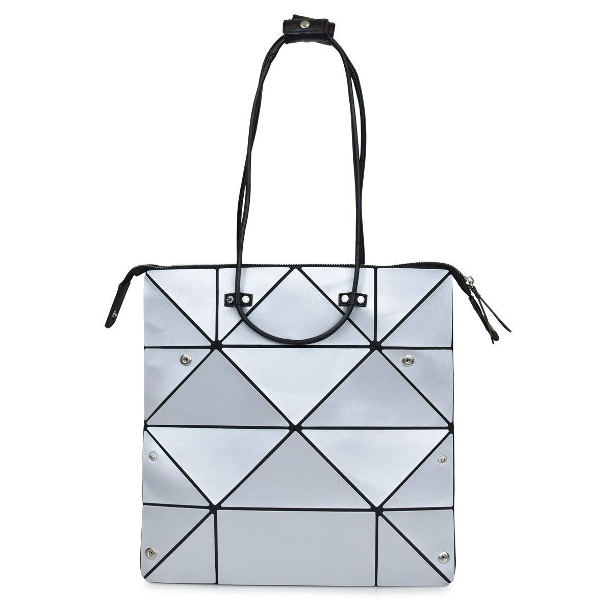 Hanaa-fu Womens Handbag Aries Neo Origami Transforming Bag Silver by Hanaa-fu