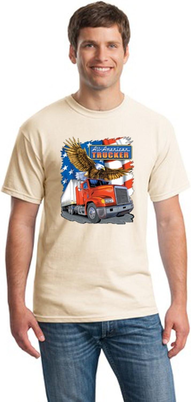 American Trucker Mens Cotton Blend T-Shirt