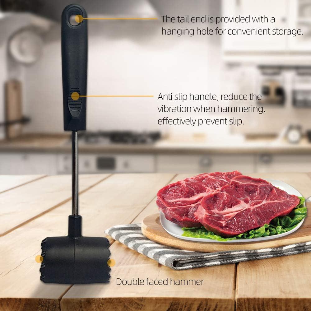 maillet /à deux c/ôt/és pour porc de b/œuf Ouziffish Attendrisseur de viande robuste