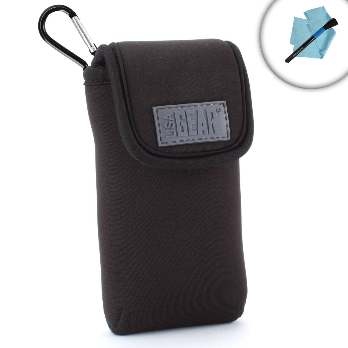 USA Gear Dual Band Handheld Transceiver Travel Sleeve Pouch with Carrying Belt Loop and Carabiner Clip Works with Baofeng BF-F8HP, UV-5R, UV-82C, BF-F8+ and More Radios
