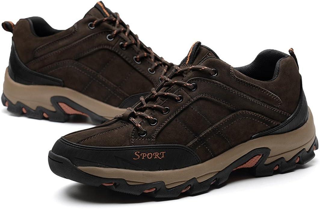 ailishabroy Baja Arriba Nubuck Cuero Zapatos de Escalada Impermeable Walking Zapatos Deportivos