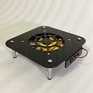 Cooling Fan Heat Dissipation Base Modify Frame for Mac Mini Radiator Overclock with 12cm PCCOOLER Silent Fan Acrylic Chassis