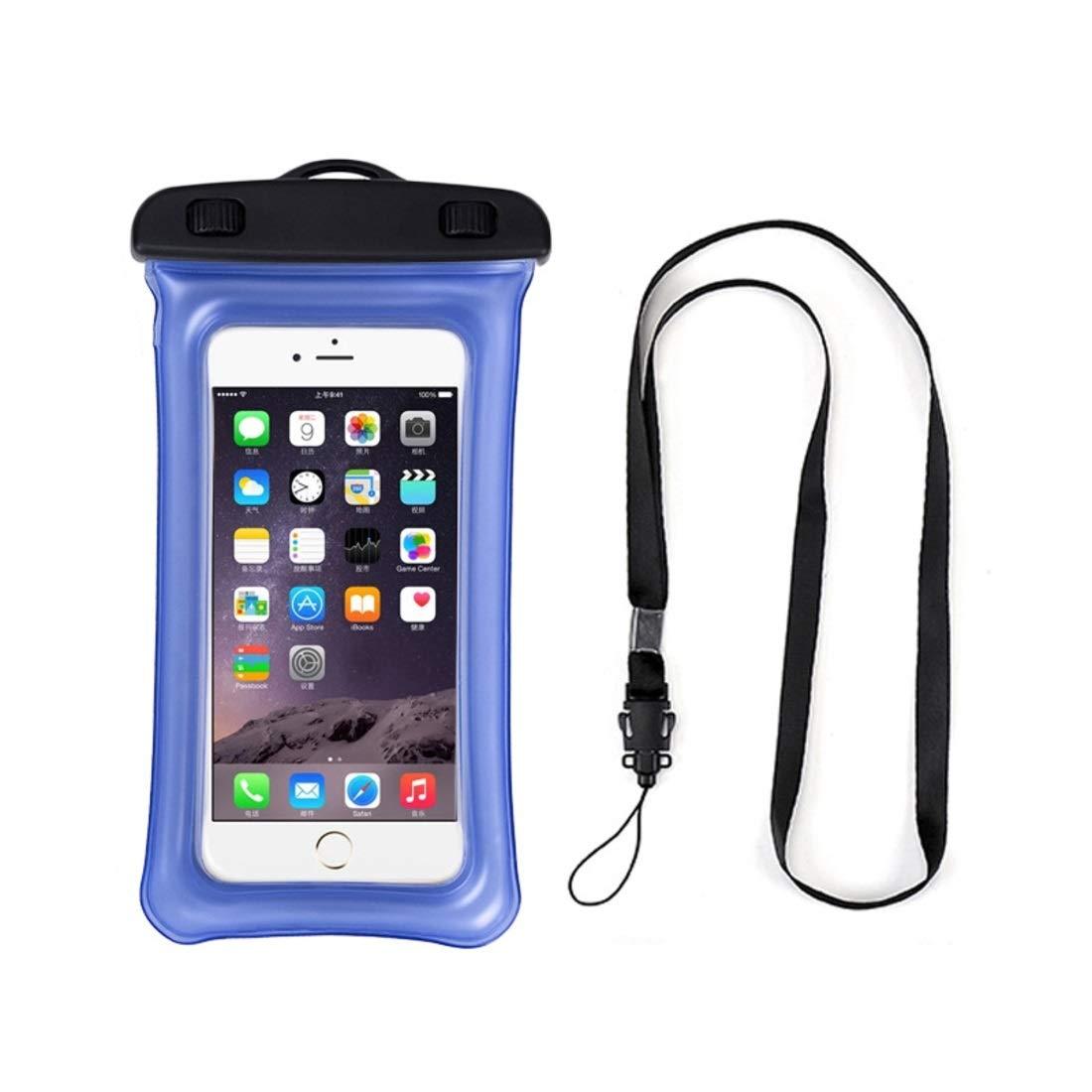 Mercure 20 Piece Mobile Phone Waterproof Bag, Floating PVC Mobile Phone Waterproof Bag with Air Bag,Waterproof Dry Bags Bundle for Boating Swimming Snorkeling Kayaking Beach (Color : Blue) by Mercure
