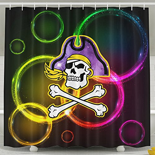 [Memoy Carolina Skull Pirate Mildew Resistant Bathroom Shower Curtain For Home Traval Hotel With Hooks] (Tony Hawk Halloween Costume)