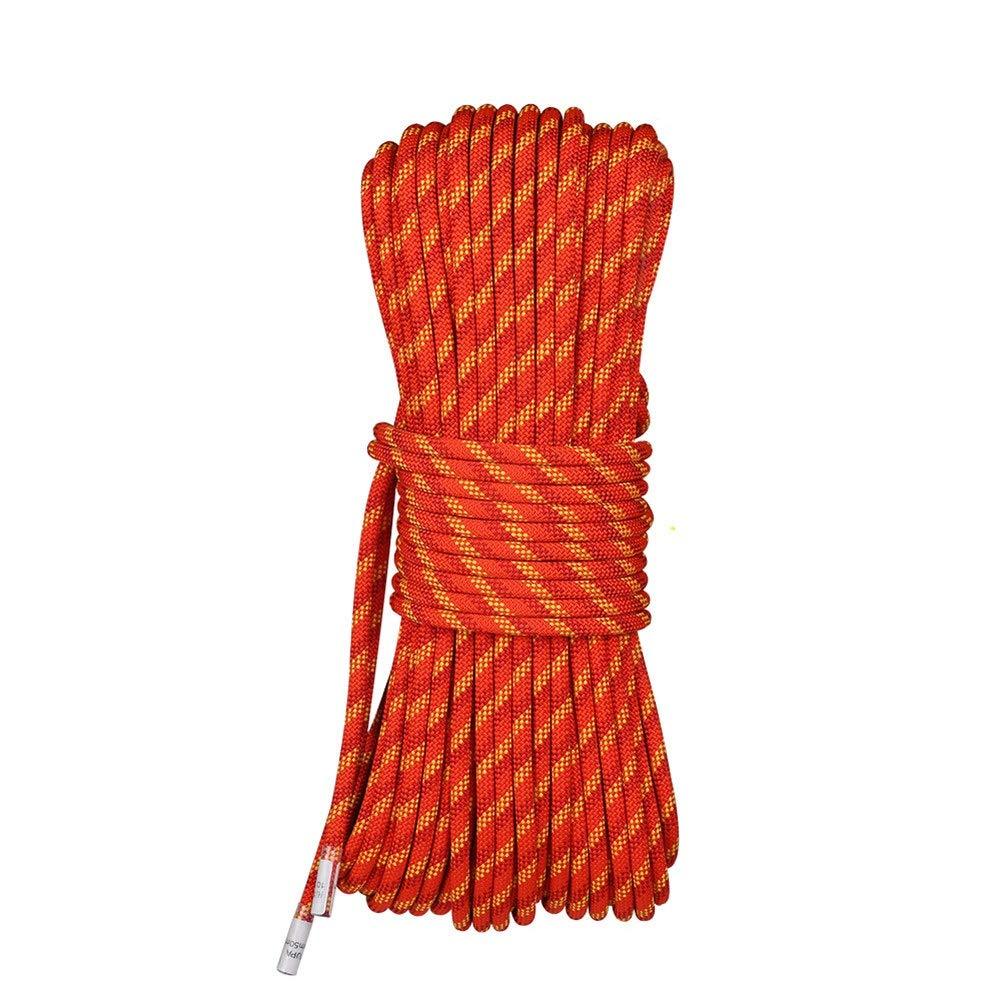 Orange Escalade Corde Corde d'alpinisme extérieure, Corde d'escalade de Corde de sécurité, Corde de sécurité de Corde de Vie, Corde de Secours d'équipement de Survie de Champ de 10.5mm 30m