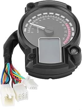 Tachimetri Per Moto,Contachilometri Digitale LCD Colorato Universale Con Tachimetro Digitale W//Sensore Di Velocit/à