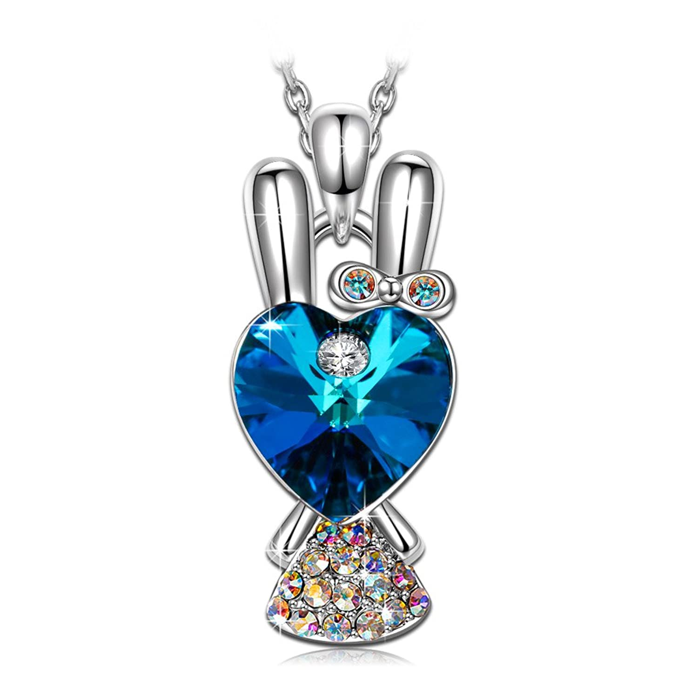J NINA Conejo Princesa fabricados con cristales SWAROVSKI® Joyería Animal para Las