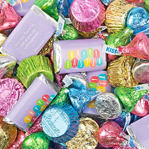 Easter Candy Mix Hershey's Miniatures, Kisses and Reese's Peanut Butter Cups (3lb (Hersheys Easter Candy)