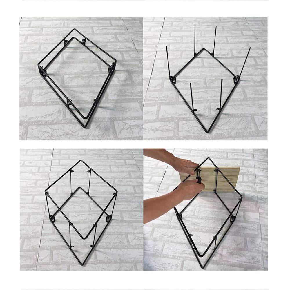 Scaffale di Mensola da Parete NSCHJZ Mensola da Muro Design Diamante Portaoggetti Vintage da Muro Supporto in Metallo con Ripiano in Legno da Parete