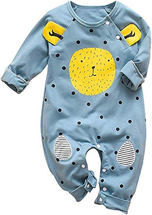 Pijama de león sin pies para recién Nacido, de algodón, de Manga Larga, para Dormir Azul Azul 90: Amazon.es: Ropa y accesorios
