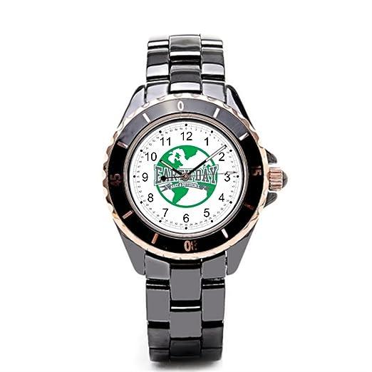 Queensland Fine reloj reciclado cerámica relojes planeta: Amazon.es: Relojes