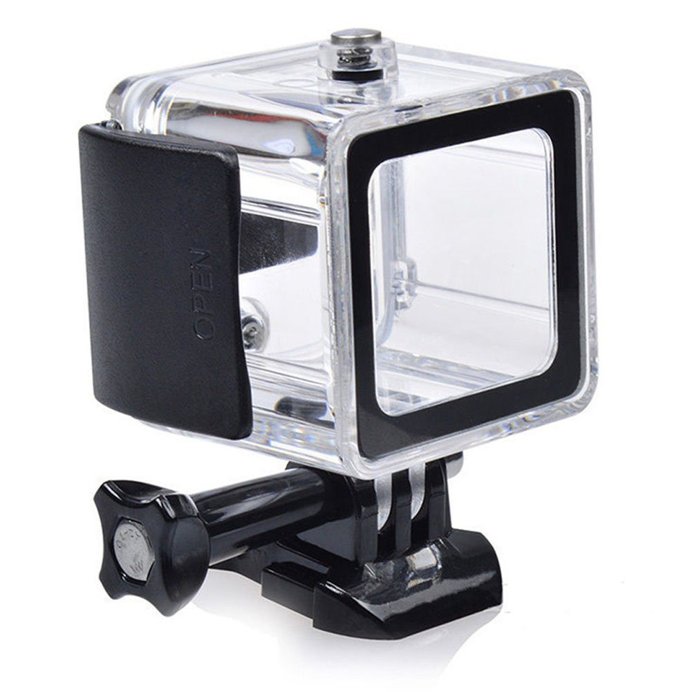 YOEMELY Waterproof Replaceable Case for GoPro 4 Session Diving Housing 40 meters/130foot Underwater Photographic Cover for Diving Snorkeling (Black)