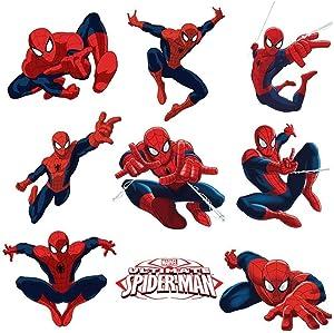 SchwartsCount Spiderman Wall Decal - Fathead Spiderman Decals - Large Spiderman Decals for Boys Bedroom - Spiderman Kids Nursery Stickers & Decals - 60 x 30cm - 24 x 12 Inches