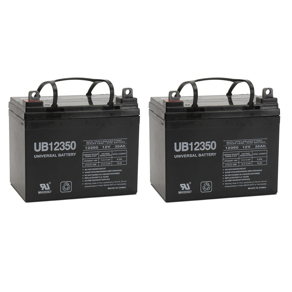 12V 35AH Battery for Pride Boxster Celebrity 2000 X Power Chair Scooter - 2 Pack