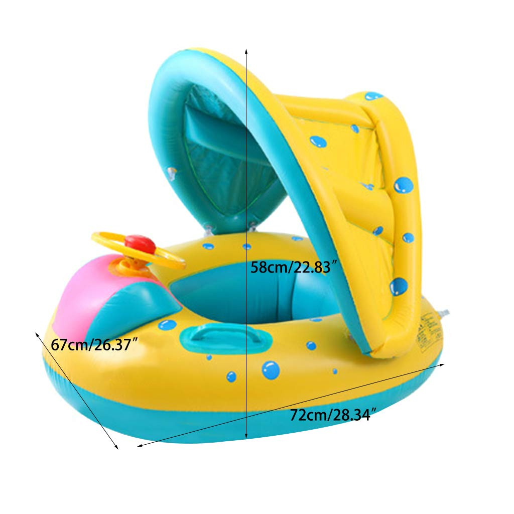 Summer Inflatable Swim Float Water Fun Pool Toys Seat Boat Baby ...
