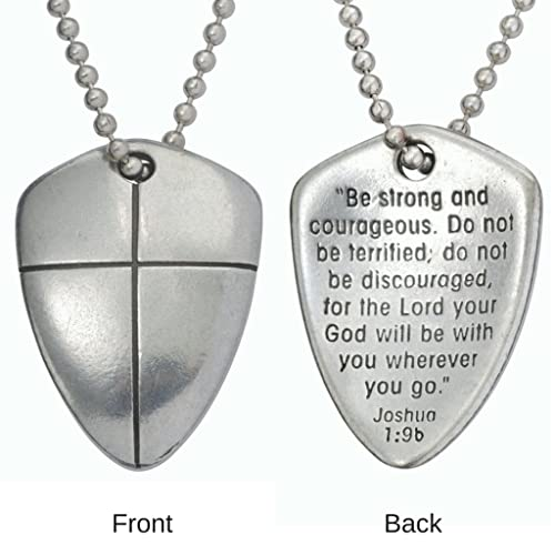 Amazon necklace shield of faith cross w24 chain uncarded necklace shield of faith cross w24quot chain uncarded aloadofball Images