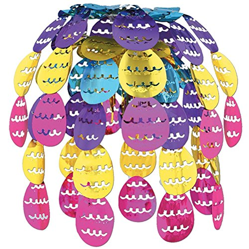 Pack of 12 Hanging Metallic Easter Egg Cascade Party Decorations 24