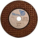 Falcon A36TBE Extra Tough Resinoid Bonded Double Reinforced Grinding and Snagging Abrasive Cut-off Wheel, Type 1, Aluminum Oxide, 3/8'' Hub, 3'' Diameter x 3/16'' Thickness, 36 Grit (Pack of 5)