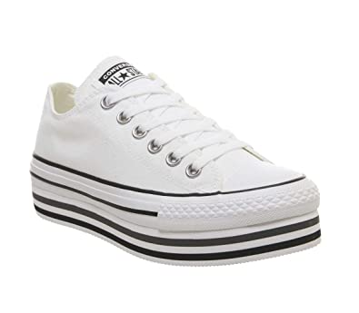 Converse Chucks CT AS Platform Layer OX 563971C Weiß: Amazon ...