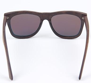 LY4U marco de bambú lleno polarizado para hombre y para mujer de bambú Gafas de sol revestidas de madera clásico, gafas vintage, gafas de sol ...