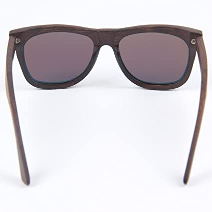 d00cd25f80 LY4U Mens and Womens Polarized Full Charcoal Bamboo Frame Classic Wooden  Coated Sunglasses
