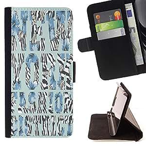 Skull Market - FOR Sony Xperia M2 - as long as you believe - Caja de la carpeta del tirš®n del cuero de la PU [con ranuras para tarjetas y cierre de solapa magnšŠtica] Pš¢rese cubierta de la caja