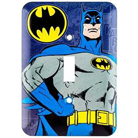 Amazon dc comics batman wall light switch cover home kitchen dc comics batman wall light switch cover mozeypictures Images