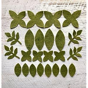 Wool Felt Flowers - Winter Flowers - Metallic Silver Snowflakes - 19 Flowers & 24 leaves - Create Headbands, DIY Wreaths, Felt Garlands 2