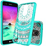 LG Stylo 3 Case,LG Stylo 3 Plus Case,LG Stylus 3 Case Clear,AnoKe Mandala Flower Cute Thin Slim Protective Mobile Cell Phone Cases Cover with Screen Protector for Girls Women Kids LG LS777 TM CH Mint