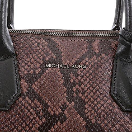Michael Kors - Bolso de asas de Piel Lisa para mujer gris