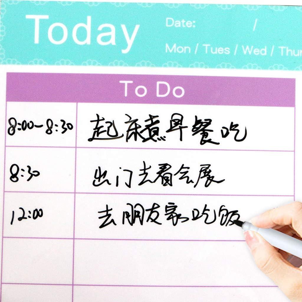 Magnetic Whiteboard Daily Planner K/ühlschrank Magnet Message Strap Radiergummi Von R-WEICHONG