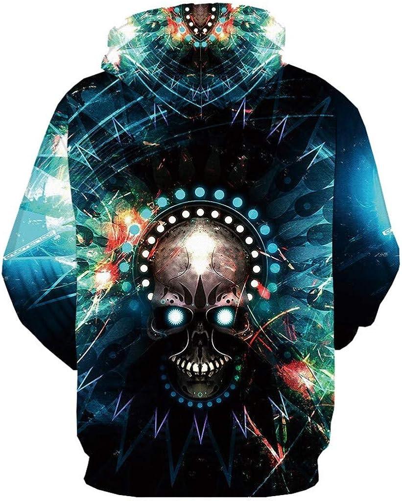 Blue,3XL LEKODE Men Sweatshirt Fashion Beautiful Wild Long Sleeve Daily Winter Tunic