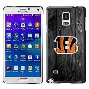 Be Good Phone Accessory // Dura Cáscara cubierta Protectora Caso Carcasa Funda de Protección para Samsung Galaxy Note 4 SM-N910 // Cincinnati Bengal Football