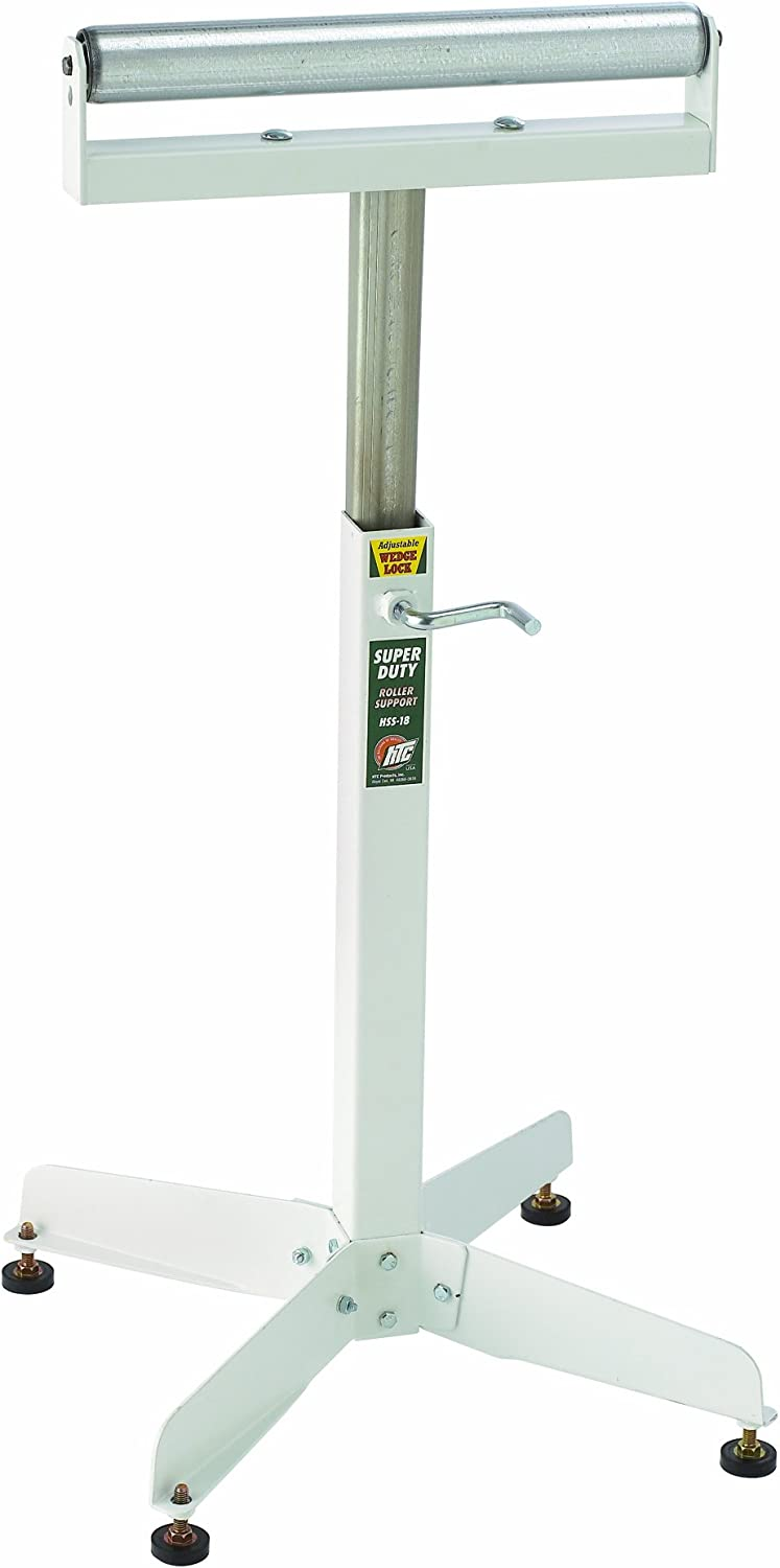 B00002263O HTC HSS-18 Super Duty Adjustable 28-Inch to 45 1/2-Inch Tall Pedestal Roller Stand with 16-Inch Ball Bearing Roller, 500 Lbs. Material support 61ENB7TOzKL
