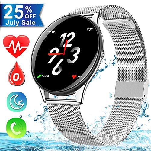 Smart Watch for Android Phone, Dreamoo IP68 Waterproof Blutetooth Smartwatch with Heart Rate Blood Pressure Monitor Fitness Tracker for Men Women Android iOS Mother's Day Birthday - 1.33 Phone Watch Inch