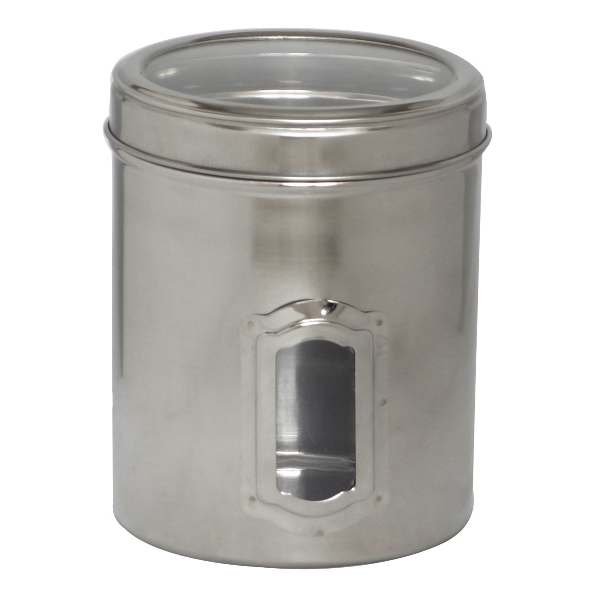 Iconic Pet Pet Canister Side See Through/Steel Lid